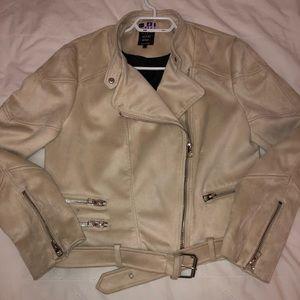 Cream suede jacket